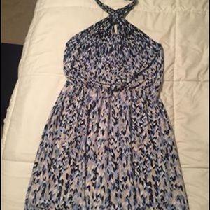Halter mini dress